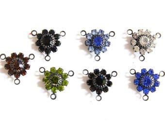 4pcs--Vintage, Swarovski, Crystal Flowers, 13.7mm (B65-6)
