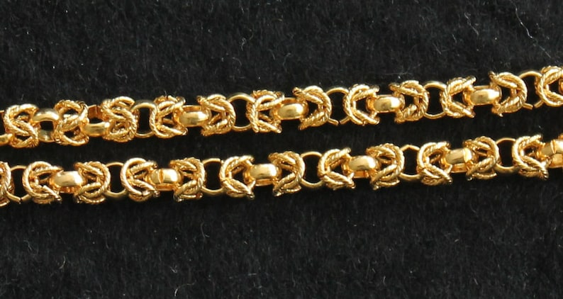 B91-7 5mm 18 inches Gold Plated Chains Vintage