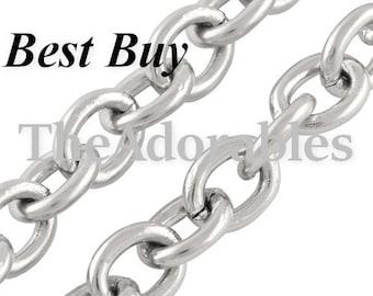 1-5-10meters--Stainless Steel Chain, 3x2.5mm (B46-1)