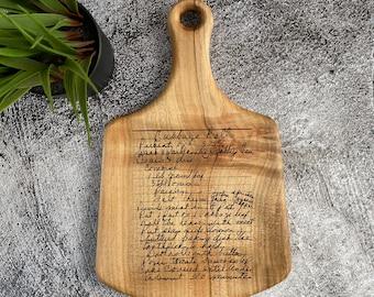 Recipe Cutting Board - Engraved Handwriting Cutting Board - Personalized Wood Cutting Board - Family Kitchen Decor - Custom Wedding Gift