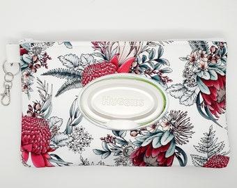 Custom made baby wipe case holder  flower print