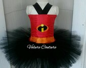 Inspired Tutu Dress Costume Infant Toddler Girls Baby Newborn Halloween Birthday Outfit Red Black Orange Super Hero