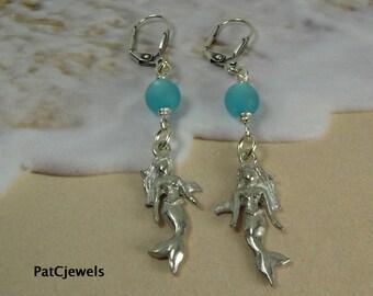 Mermaid Earrings, Beach Earrings, Summer Earrings,