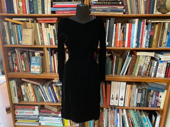 1960s Gigi Young Velvet Wiggle Dress