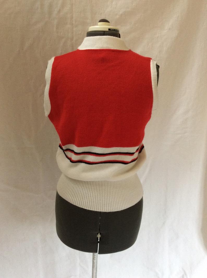 1980s Cheerleading Sweater Vest