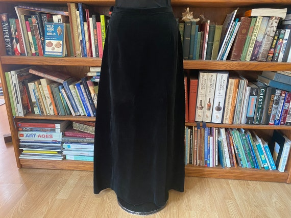 1960s Velvet Maxi Skirt