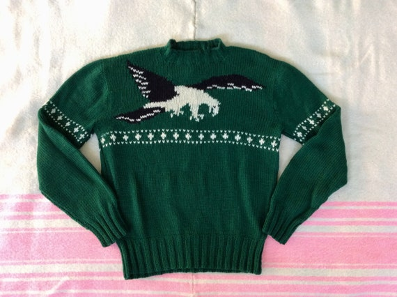 1960s Hand Knit Eagle Sweater