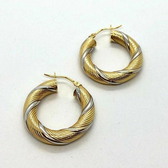 14KT Yellow Gold Twist Hoop Earrings