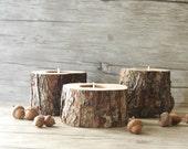 Rustic Candle Holders, Tree Branch Candle Holders, 5th Anniversary gift, Wooden Tealight Holders, Easter Table Decor, Wedding Decor