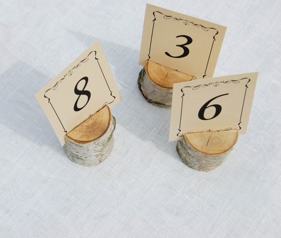 Birch Branch Place Card Holders Woodland Outdoor Country Wedding Table Number Holders Barn Wedding Decor 36pcs Name Card Holders