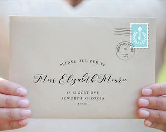 Custom Wedding EnvelopeCustom Calligraphy EnvelopeEnvelope - Envelope address label template