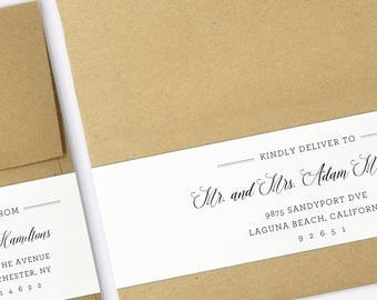 picture relating to Printable Address Labels Wedding called Receiver labels Etsy