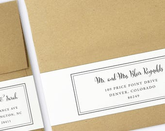 wrap around labels printable address labels wedding etsy