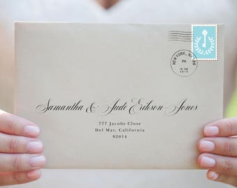 envelope template printable envelope addressing wedding etsy