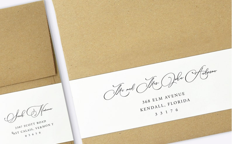 graphic about Printable Address Labels Wedding named Wrap Above Labels - Printable Deal with Labels, Marriage ceremony Envelope Label, Printable Wraparound Labels, Wedding day Labels Template - SN031_WA