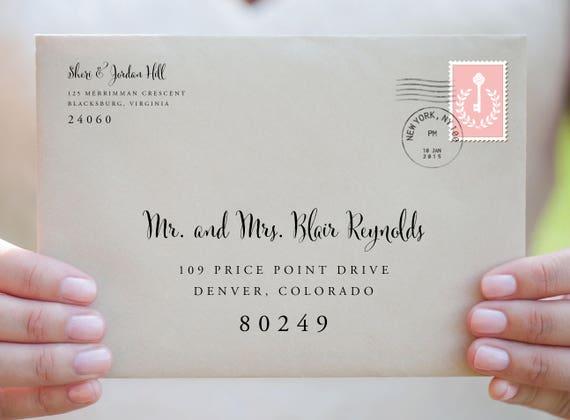 Envelope Template Envelope Address Template Wedding Envelope Etsy