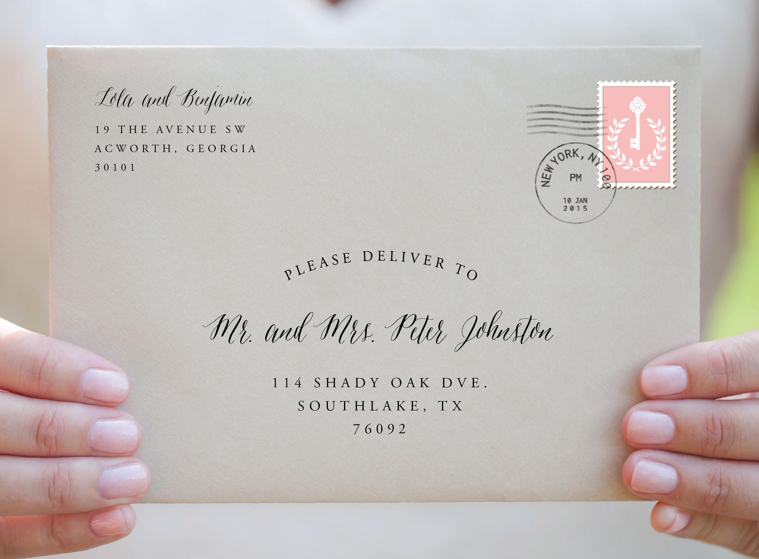 Envelope Template-Address Template-Printable Custom | Etsy