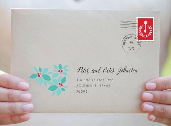 christmas envelope template christmas label envelope template etsy