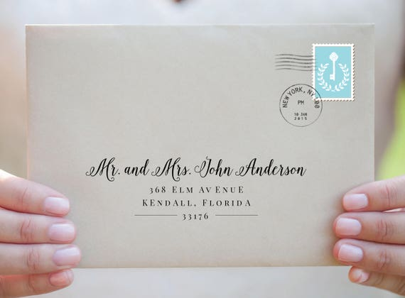 Envelope Template Printable Addressing Wedding