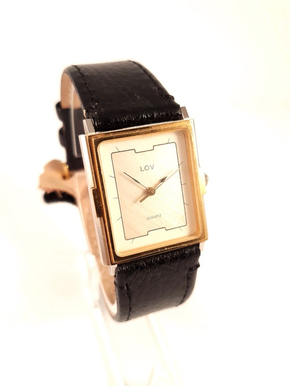 Vintage French lady watch LOV, Quartz women watch.