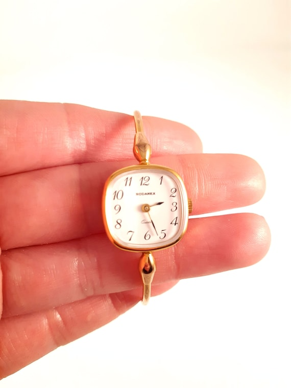 Vintage RODANEX gold Plated Quartz Ladies Watch-90