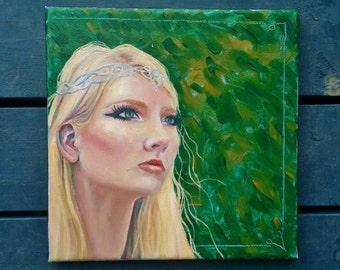 Elvish Celtic Woman Fantasty Oil Painting - Areth