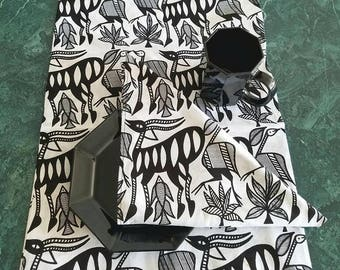 Table Runner and Napkins, Animal Print