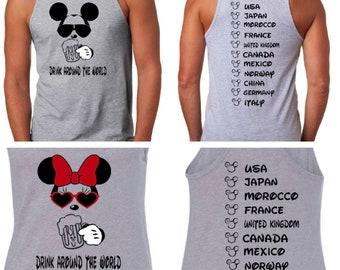 f6de2627d4fca Drink Around the World. Disney Drinking Shirt