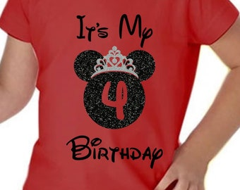 Disney Birthday Girl Shirt Its My Youth And Toddler Princess With Glitter