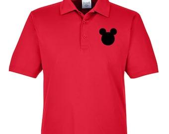 Mens Disney Polo Shirt, Mens Mickey Mouse Polo Shirt, Mens Disney Castle Shirt, Mens Disney Performance Polo Shirt