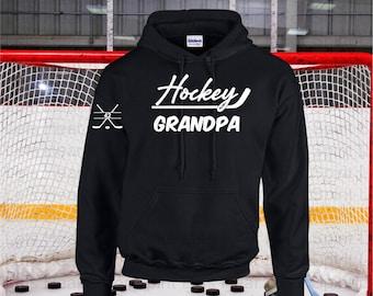 Hockey Grandpa Hoodie,  Hockey Hoodie for Grandpa,  Hockey Grandpa Gift, Hockey Hoodie or Sweatshirt