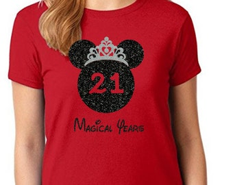 Disney Birthday Shirt Minnie Girl 21st Personalized Cute Gift