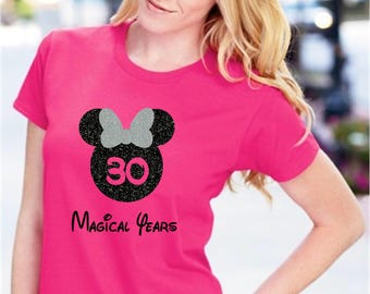 Disney Birthday Shirt Girl Princess Minnie Tshirt Mouse Cute Gift Celebrating My