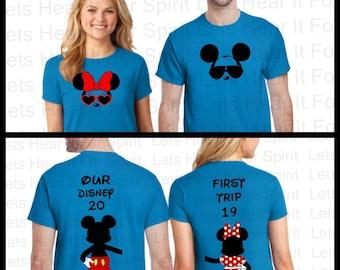 Disney Couple Shirts, Disney Couples Matching Shirts, Disney Matching Shirts, His & Hers Mickey Minnie Shirts, First trip to Disney, Couples