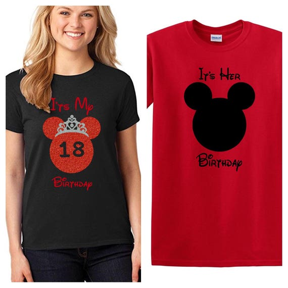 Minnie Mouse Birthday Shirt Disney Adult