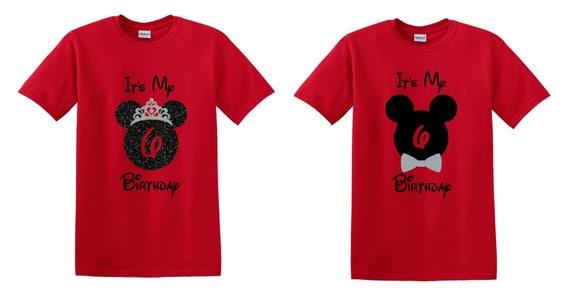 Disney Twin Shirts Twins Birthday