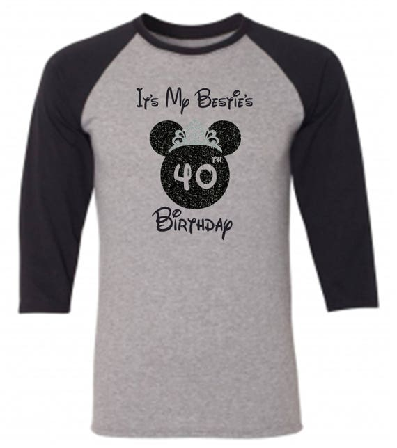 Disney Birthday Shirt Raglan Shirts Matching