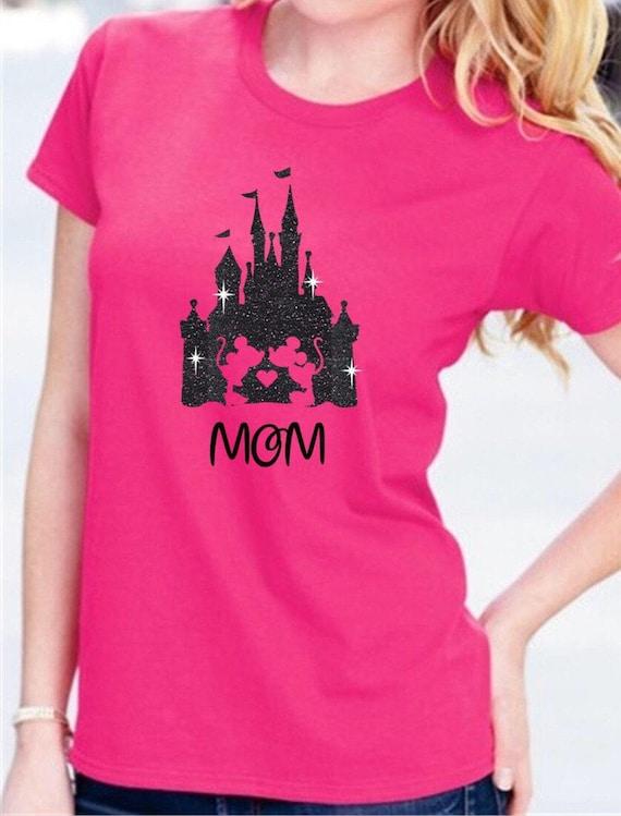 192738460 Disney Mickey Minnie Mouse Castle Shirt/Disney Castle Glitter | Etsy