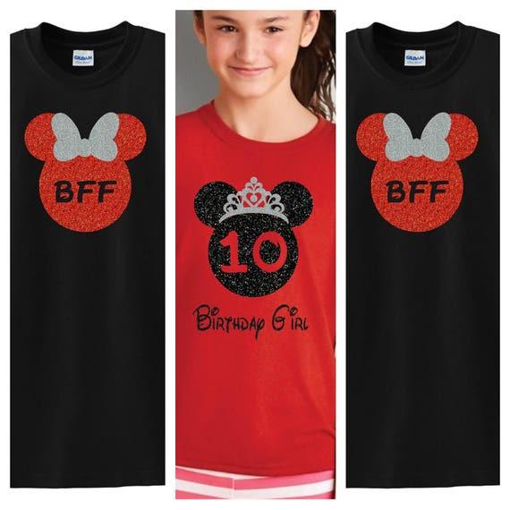 Disney Princess Birthday Girls YOUTH Shirts 1