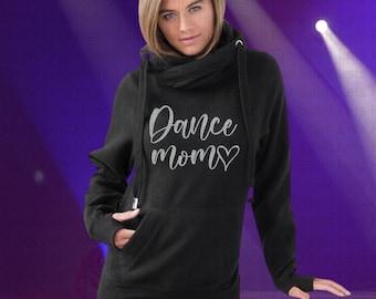 Dance Mom Hoodie, Dance Mom Glitter Hoodie, Dance Mom Hooded Sweatshirt, Dance Mom Shirt, Dance Shirt for Mom, Mom Christmas Gift Dance Mom