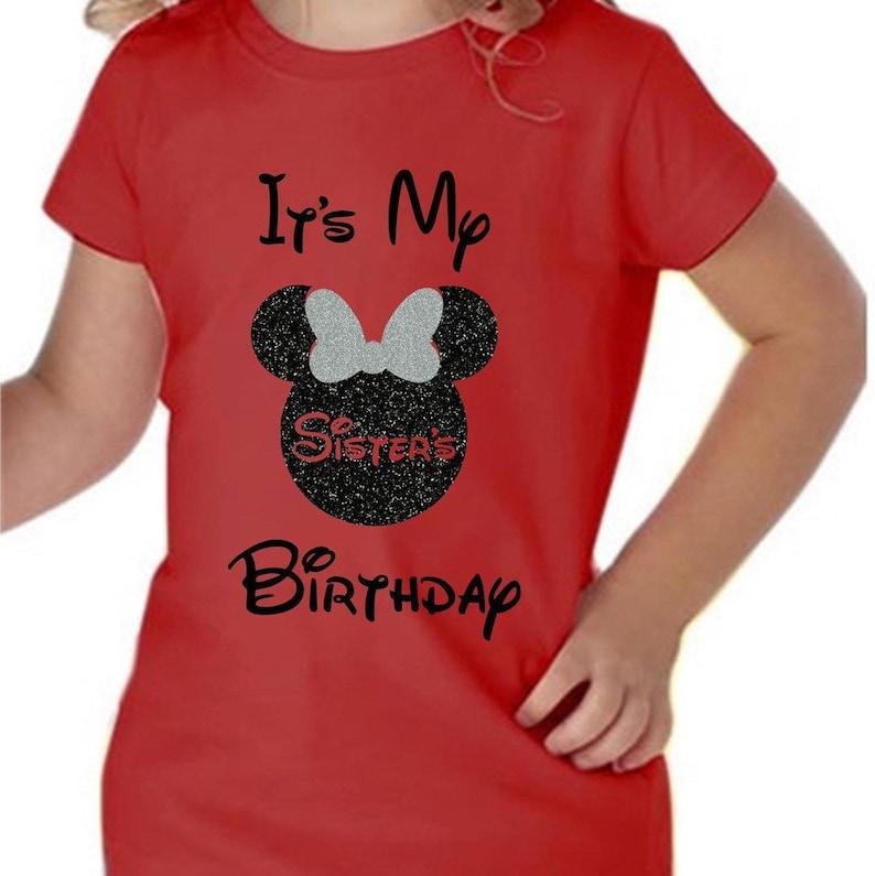 Disney Sister Of The Birthday Girl Shirt