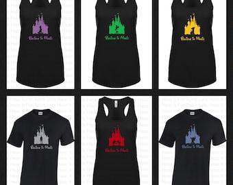 Disney Castle Shirt, Disney Princess Castle, Star Wars Castle, Rapunzell, Ariel, Simba, Stitch Castles CUSTOM LISTING