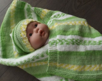 cover and green tuque lime /jaune and white