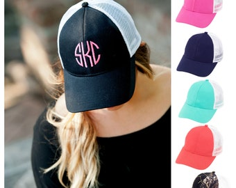 6bed8b2e8df7f Monogrammed Trucker Hat For Women