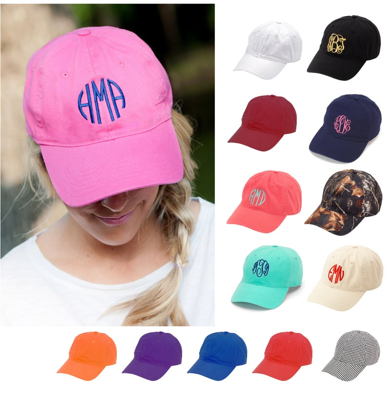 f5388893cbd Personalized Black Baseball Cap Monogram Hat Black Womens