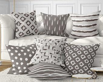 Bon Brown Pillow Covers, Beige Gray Pillow Cover, Brown Throw Pillows, Brown  Cushions, Neutral Pillows, Lumbar Pillow, Geometric Pillows, Gift