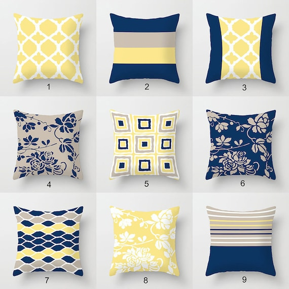 Color block pillows abstract geometric