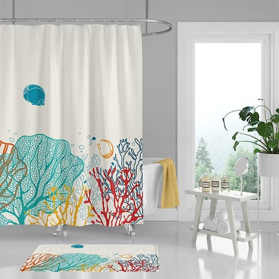 Ocean Shower Curtain Coral Reef Colorful Tropical Fish   Etsy