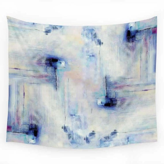 Wall Hanging Tapestry Wall Tapestry Boho White Pink Blue Abstract Tapestry Boho Wall Decor Dorm Room Decor Bedspread Indoor Outdoor