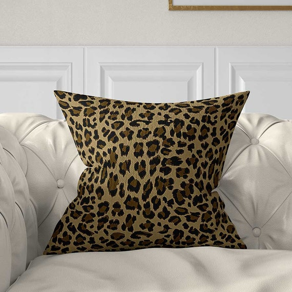 Groovy Throw Pillow Covers Decorative Pillows Leopard Pillow Animal Print Pillow Taupe Brown Beige Cushions Accent Pillows Couch Pillows Cjindustries Chair Design For Home Cjindustriesco